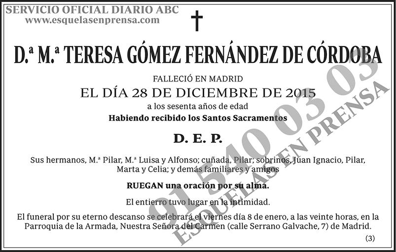 M.ª Teresa Gómez Fernández de Córdoba